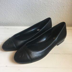 Michael Kors Logo Black Ballet Flats Shoes